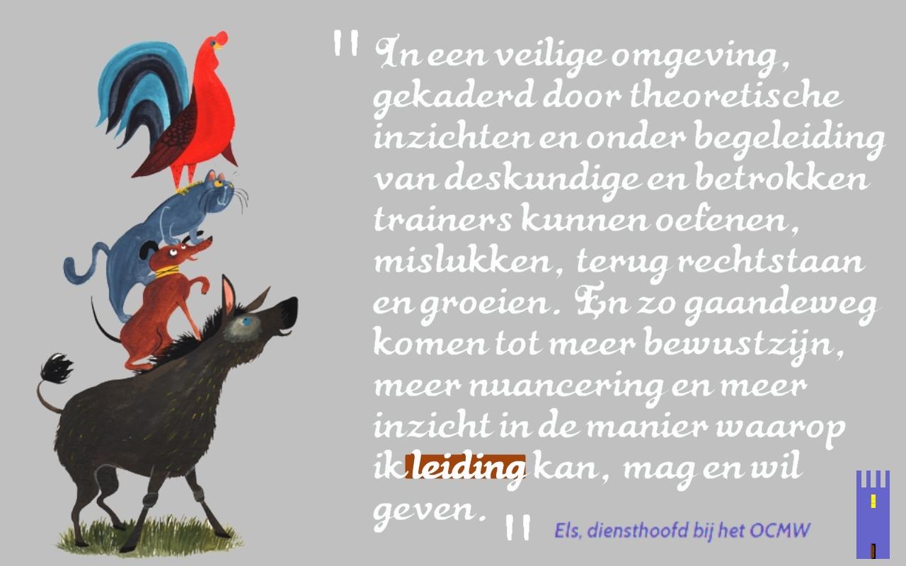 Quote van onze cursist: De Bremer Stadsmuzikanten